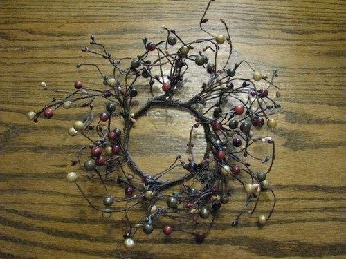 "4"" Harvest Berry Combo Candle Ring - Primitive Star Quilt Shop"