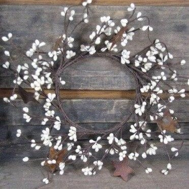 "4"" Ivory Pip Candle Ring - Primitive Star Quilt Shop"