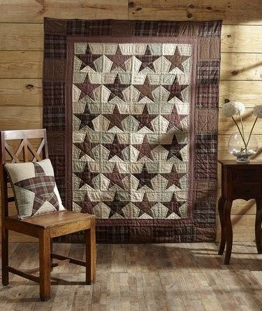 Abilene Star Quilted Throw - Primitive Star Quilt Shop - 1