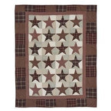 Abilene Star Quilted Throw - Primitive Star Quilt Shop