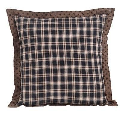 "Bingham Star Fabric Pillow 16"" Filled - Primitive Star Quilt Shop - 1"