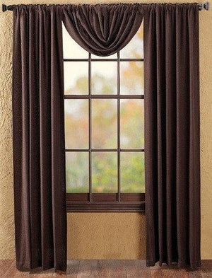 Burlap Chocolate Panel Curtains 84""