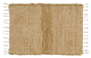 Burlap Natural Chindi Rug 20x30""