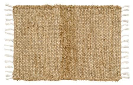 "Burlap Natural Chindi Rug 36x60"" - Primitive Star Quilt Shop"