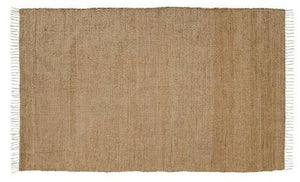 Burlap Natural Chindi Rug 4x6'