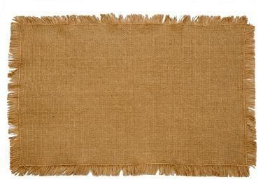 Burlap Natural Fringed Placemat - Set of 2 - Primitive Star Quilt Shop
