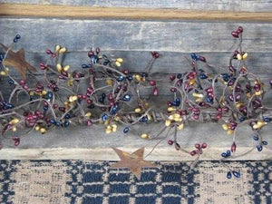 Colonial Pip Berry and Star Garland 40""
