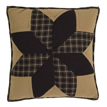 "Dakota Star Quilted Pillow 16"" Filled - Primitive Star Quilt Shop - 1"