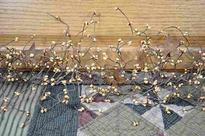 Gold Pip Berry and Star Garland 40""