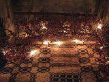 Lighted Burgundy Pip Berry Garland 4' - Primitive Star Quilt Shop