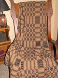 Westbury Black and Mustard Woven Throw - Primitive Star Quilt Shop