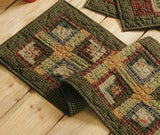 "Tea Cabin Quilted Runner 13x36"" - Primitive Star Quilt Shop"