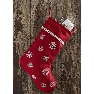 "Winter Wonderment Stocking 11x15"" - Primitive Star Quilt Shop"