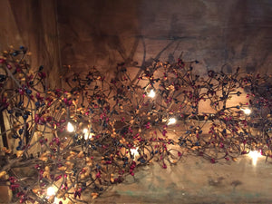 Lighted Colonial Pip Berry Garland 4'
