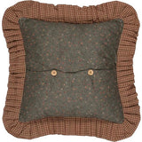 "Crosswoods Patchwork Pillow 18"" Filled - Primitive Star Quilt Shop"