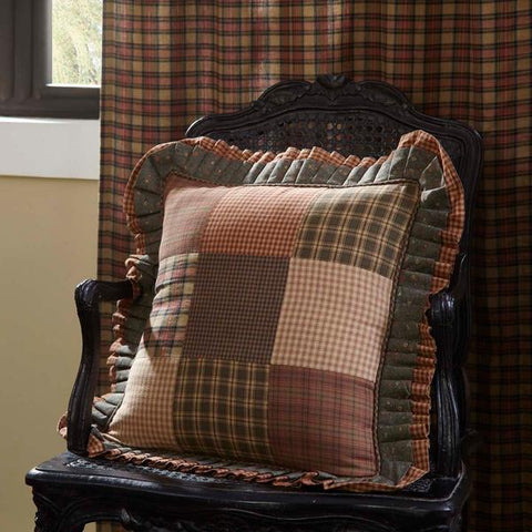 "Crosswoods Patchwork Pillow 18"" Filled"