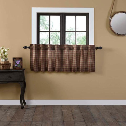 Crosswoods Lined Tier Curtains 24""