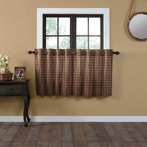 Crosswoods Lined Tier Curtains 36""