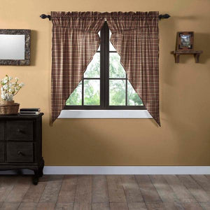 Crosswoods Lined Prairie Curtains 63""