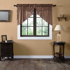 Crosswoods Lined Prairie Swag Curtains