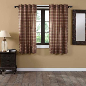 Crosswoods Lined Short Panel Curtains 63""
