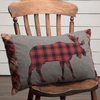 "Cumberland Moose Applique Pillow 14x22"" Filled - Primitive Star Quilt Shop"