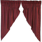 "Cumberland Lined Prairie Curtains 63"" - Primitive Star Quilt Shop"