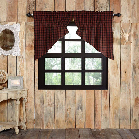 Cumberland Lined Prairie Swag Curtains
