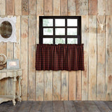 "Cumberland Lined Tier Curtains 24"" - Primitive Star Quilt Shop"