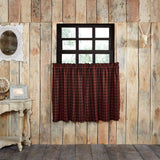 "Cumberland Lined Tier Curtains 36"" - Primitive Star Quilt Shop"