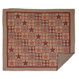 Dawson Star Quilt King Quilt- Primitive Star Quilt Shop