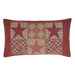Dawson Star Quilted King Sham 21x37""