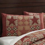 "Dawson Star Quilted King Sham 21x37"" - Primitive Star Quilt Shop"