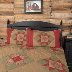 Dolly Star Quilted King Sham 21x37""