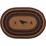 "Heritage Farms Crow Oval Braided Rug 20x30"" - Primitive Star Quilt Shop"