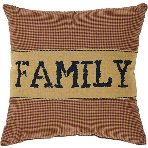 Heritage Farms Family Pillow 12x12""