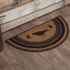 "Heritage Farms Crow Half Circle Braided Rug 16.5x33"" - with Pad - Primitive Star Quilt Shop"