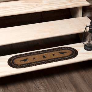 Heritage Farms Crow Oval Braided Stair Tread Latex Backed 8.5x27""