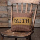 "Heritage Farms Faith Pillow 12x12"" - Primitive Star Quilt Shop"