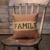 "Heritage Farms Family Pillow 12x12"" - Primitive Star Quilt Shop"