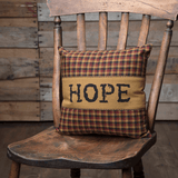 "Heritage Farms Hope Pillow 12x12"" - Primitive Star Quilt Shop"