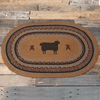 "Heritage Farms Sheep Oval Braided Rug 20x30"" - Primitive Star Quilt Shop"