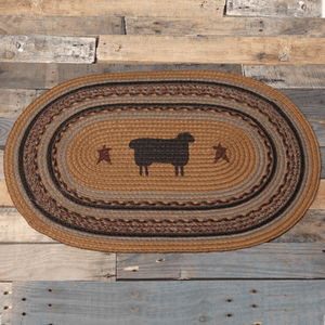 Heritage Farms Sheep Oval Braided Rug 20x30""