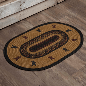 Heritage Farms Star Oval Braided Rug 20x30""