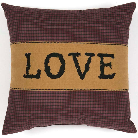 Heritage Farms Love Pillow 12x12""