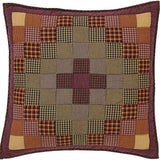 "Heritage Farms Quilted Euro Sham 26x26"" - Primitive Star Quilt Shop"