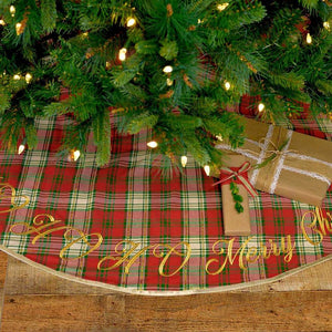 HO HO Holiday Tree Skirt 48""