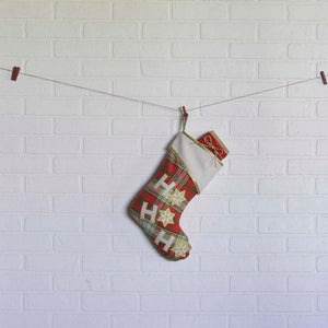 HO HO Holiday Stocking 11x15""