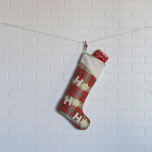 HO HO Holiday Stocking 11x20""