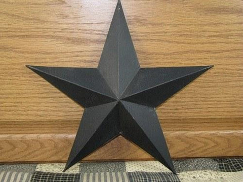 "12"" Black Barn Star - Primitive Star Quilt Shop"